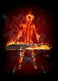 键盘乐器演奏家 库存图片