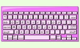 键盘传染媒介例证 库存图片