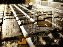 键盘和电路 免版税图库摄影
