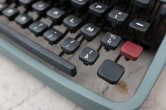 键盘和老打字机细节 免版税库存图片