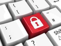 键盘安全钥匙 库存图片