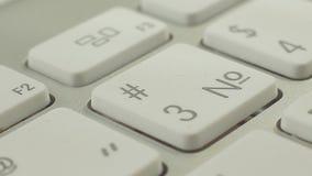 键盘宏观录影按与数字和作用 按按钮 股票视频