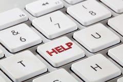 键盘帮助按钮 免版税库存图片