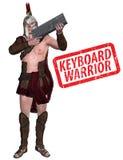 键盘战士例证 免版税图库摄影