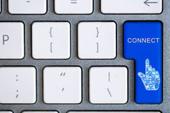 键盘按钮为连接 库存图片