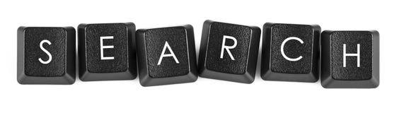 键盘按钮-查寻 免版税库存照片