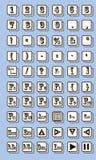键盘标志传染媒介例证 库存图片