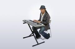 键盘演奏者 库存图片