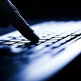 键盘特写镜头视图 免版税图库摄影