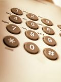 键盘电话 免版税库存照片