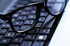 键盘的特写镜头 免版税库存图片