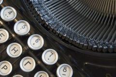 键盘的细节打字机老黑色 免版税库存照片