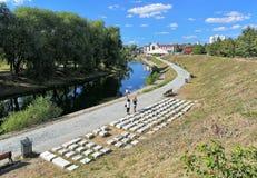 键盘纪念碑在叶卡捷琳堡,俄罗斯 免版税库存照片