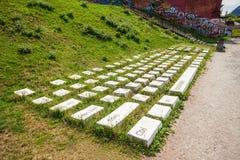键盘纪念碑在叶卡捷琳堡 免版税库存图片
