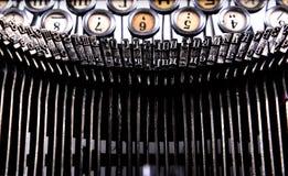 键盘老打字机和小细节 免版税图库摄影
