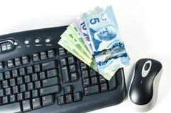 键盘金钱和老鼠 库存图片