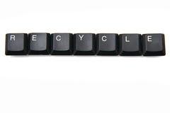 键盘键-回收 图库摄影