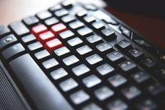 键盘,关闭 图库摄影