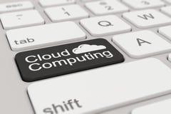 键盘-云彩计算-黑色 库存图片