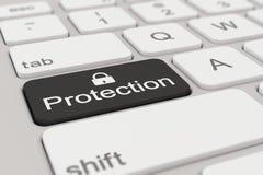 键盘-保护-黑色 图库摄影