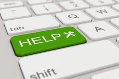 键盘-帮助-绿色 免版税库存图片