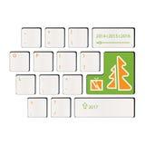 键盘-礼物的时期-新年快乐 免版税库存图片