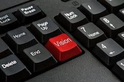 键盘-红色关键视觉、企业概念和想法 库存照片