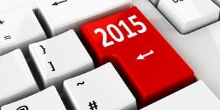 键盘2015年 免版税库存照片
