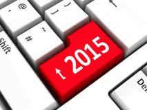 键盘2015年 库存图片