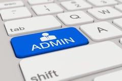 键盘- admin -蓝色 免版税库存图片