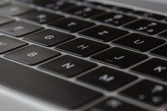 键盘- MacBook 12'银第1个gen 免版税库存图片