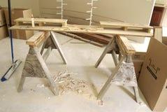 锯木架 库存图片