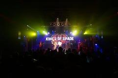 锹的国王在舞台使用在MOTOWN华伦泰5 库存图片