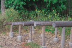 锻炼机制木头 免版税图库摄影