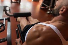锻炼腿部锻炼特写镜头 库存图片