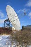 镀无线电望远镜在普尔科沃观测所晴朗的2月下午 圣彼德堡 库存图片
