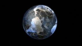 镀铬物地球 免版税库存照片