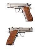 镀铬物堡垒12r创伤枪 免版税库存图片