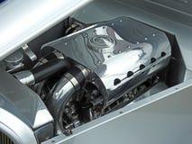 镀铬物大功率的涡轮引擎 免版税图库摄影