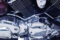 镀铬物引擎 库存图片
