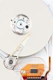 镀铬物推进困难橙色丝带 免版税库存照片