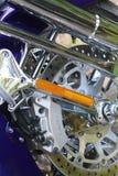 镀铬物摩托车 库存图片