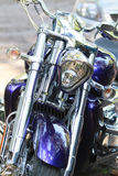 镀铬物摩托车 免版税库存图片