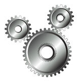 镀铬物查出的设计齿轮 库存照片