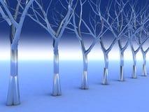 镀铬物水晶结构树 向量例证