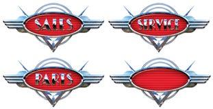 镀铬物汽车商标 库存例证