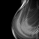 镀铬物波浪模式的银 免版税库存图片
