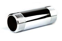 镀铬物管子 图库摄影