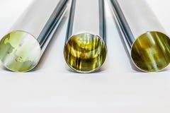 镀铬物管,虹吸管管 库存图片