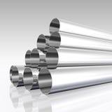 镀铬物管 向量例证